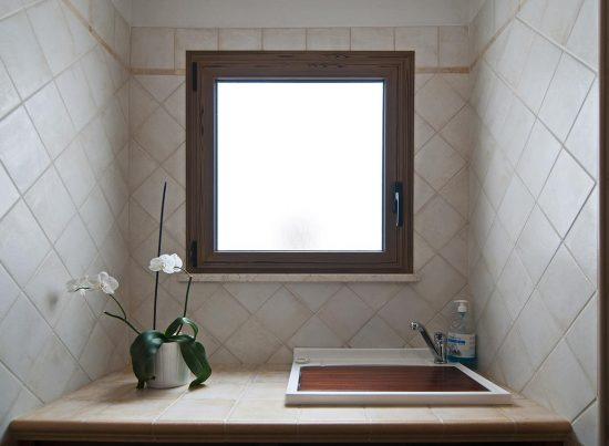 appartamento supersano rustico casa vacanze la scisa appartamenti nel salento lavandino del bagno
