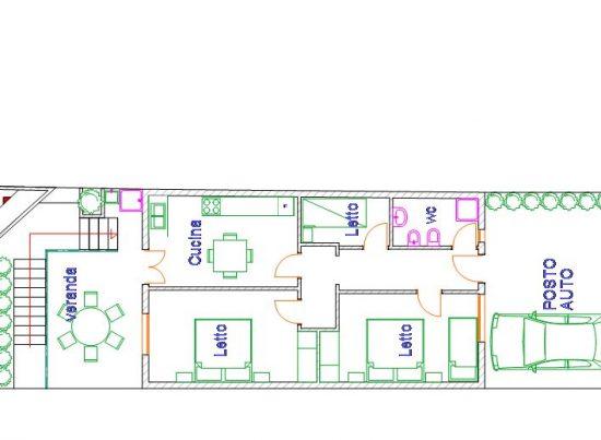 appartamento pesculuse rosa rossa casa vacanze la scisa appartamenti nel salento piantina